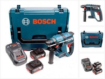 Bosch GBH 18 V-EC brushless Bohrhammer Professional SDS-Plus in L-Boxx mit GAL 1880 CV Schnellladegerät und 2x GBA 6 Ah Akku -