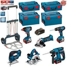 Bosch Kit PSL6M3A (GBH 18 V-EC + GKS 18 V-LI + GWS 18 V-LI + GDX 18 V-LI + GSB 18-2-LI + GST 18 V-LI + 3 x 4,0Ah Li-Ion + 2 L-Boxx 238 + 2 x L-Boxx 136 + Bosch Caddy) -