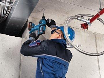 Bosch Professional GBH 18 V-EC Akku-Bohrhammer mit SDS-plus, 2x4,0 Ah Akku, EC-Motor, 2,6 kg inkl. Akku, 18 V, L-Boxx -