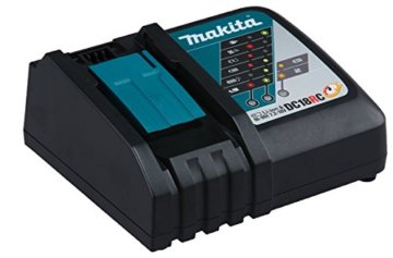 Makita Akku-Kombihammer für Sds Plus 18 V/5,0 Ah, im Makpac inklusiv 2 Akkus, Ladegerät und Staubabsaugung DX02, DHR243RTJV -