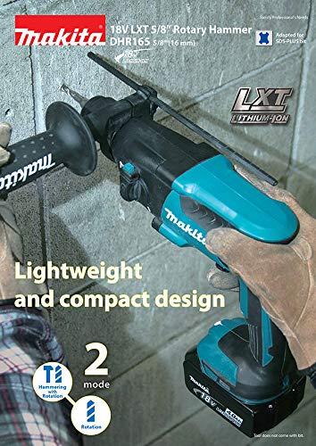 Makita DHR 165 Z 18 V Li-Ion Akku Bohrhammer mit 1,3 Joule – Solo -